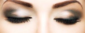 Long eyelashes and beautiful eyes.