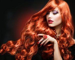 Stunning long red hair.