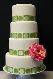 Round tiered cake.