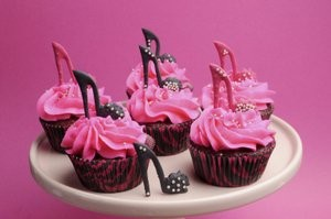 Cool pink cupcakes.