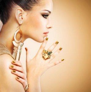 Gold jewellery.