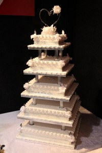 Multi tiered wedding cake.