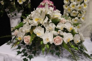 wedding flowers at the expo.