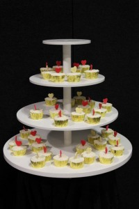 Cup cake display.