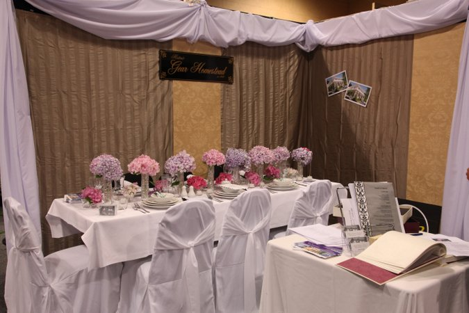 Wedding reception display.