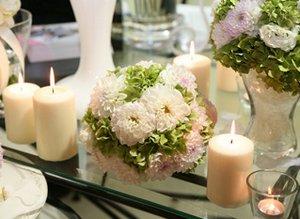 Wedding table decoration.