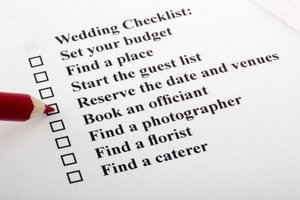 Wedding checklist for planning your day.