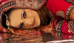 Indian bride before the wedding.
