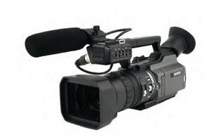 Wedding video camera.