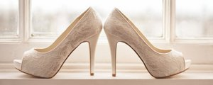 Brides wedding shoes.