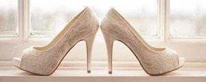 Brides wedding shoes.