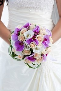Bride and wedding posy.