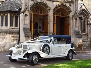 Vintage wedding car.