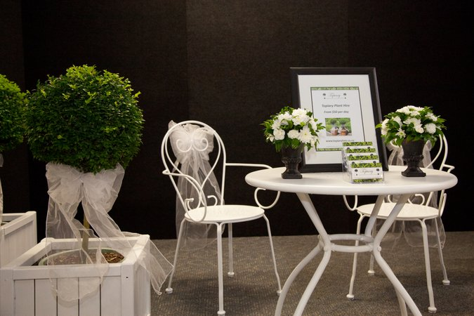Wedding reception display.