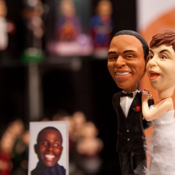 cake toppers at the expo.