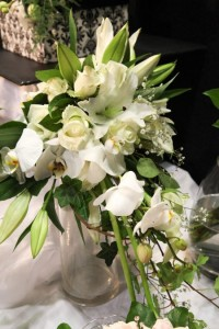 White bridal bouquet.