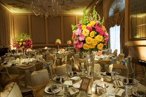 Venue decorations for big wedding.