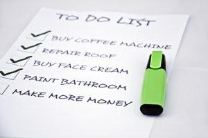 Wedding planning checklist.