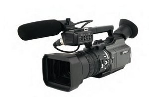 Wedding video camera.