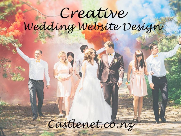 Creative wedding website design