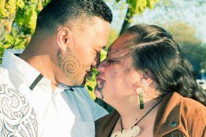 Portrait of an attractive Maori couple